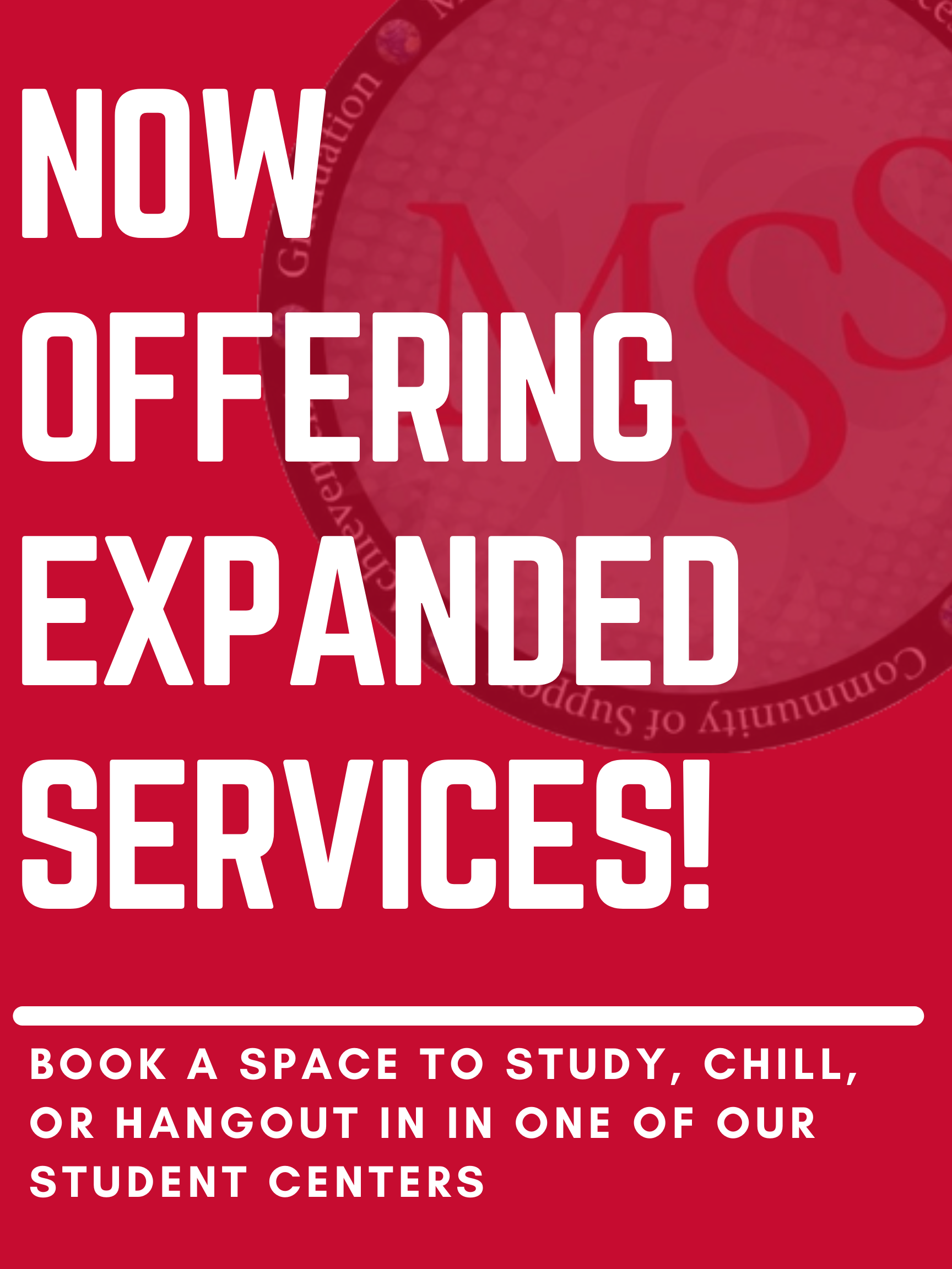 Now offering expanded services, book your space today